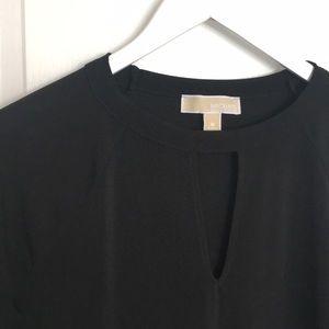 NWOT Michael Kors black long sleeved top